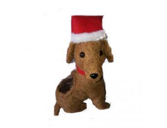 Santa Dog Coco Planter